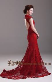 Vintage Red Evening Gown Dress