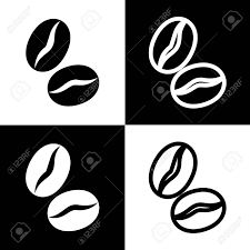 Chess Piece Clipart Elegant Coffee Beans Sign Vector Black And White Icons Line Icon Stock