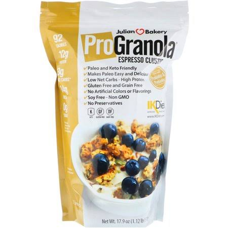 Julian Bakery ProGranola Protein Cereal - Espresso/Coffee Cluster, 17.9oz