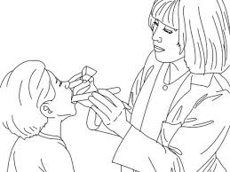 Paediatrician Doctor Coloring Pages Hellokidscom