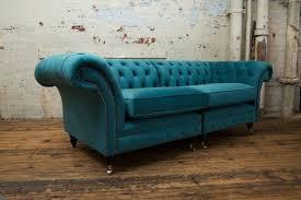 3 sitzer 210cm luxus bank sofa turkis wohnzimmer kanzlei möbel sofas neu
