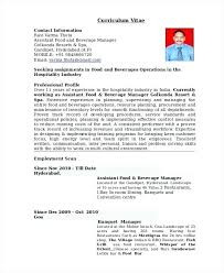 Resume Examples For Banquet Manager With Banquet Manager Resume For