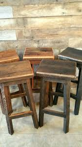 Reclaimed Barn Wood Furniture Rectangle Bar Stool Sealed Or Painted Free Shipping