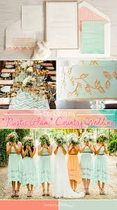 Coral And Mint Green For A Rustic Glam Country Wedding