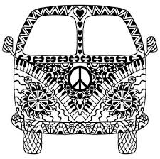 VW Camper Van Coloring Page For You To Color With Adult