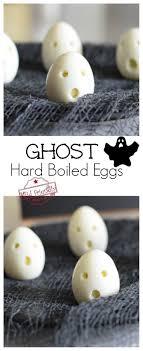 Ghost Hardboiled Eggs For A Healthy Halloween Kids Breakfast Treat