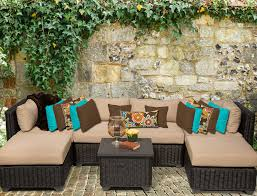 Outdoor Sectional Sofa With Chaise by 25 Awesome Modern Brown All Weather Outdoor Patio Sectionals
