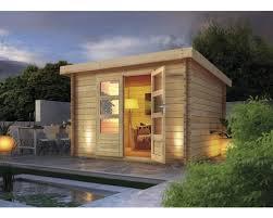 gartenhaus blockbohlenhaus woodfeeling 28 mm amadeus naturbelassen