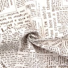 2015 New Print English Newspaper Vintage Fabric Linen Fabrics For Tablecloths Cushion Pillow 150