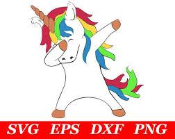 Dabbing Unicorn SVG Cricut Silhouette File Dab Clipart