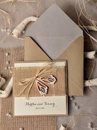 Chic Rustic Wedding Invitations 9