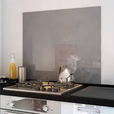 credence cuisine verre trempé crédence fond de hotte verre brillant gris 900x750 mm achat