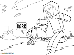 Minecraft Drawing Steve Fun Coloring Pages