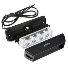 Rupse 4 LED Strobe Lights 12-24V Super Bright High Power Car Truck ...