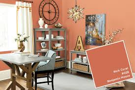 Coral Color Interior Design by Spring 2016 Paint Colors How To Decorate