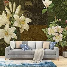 milusen abstrakte kunst weinlese blumentapete wohnzimmer