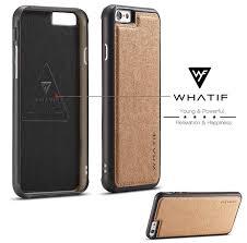 WHATIF iPhone 6S Plus 6 Plus Waterproof Kraft Paper DIY Cover Brown