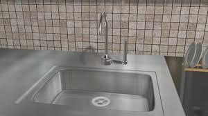 Unclogging A Bathroom Sink With A Snake by Cabinet Kitchen Sink Backing Up Into Other Sink Easy Ways To
