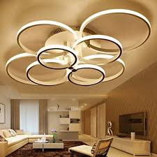 led modern deckenle onlt möbeleinbauleuchte deckenle wohnzimmer leuchte pendelleuchte hängele kronleuchter warmes weiß 8 köpfe
