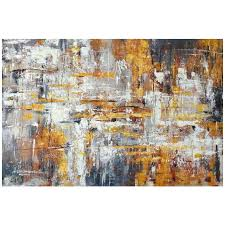 mercury row wall décor metallic painting print on wrapped canvas