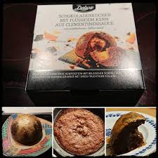deluxe schokoladenkuchen mit flüssigen kern aus