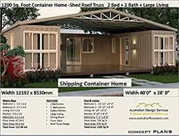 104 Shipping Container Homes For Sale Australia Amazon Com Home Plans 1200 Sq Foot 2 Bedroom Home Full Architectural Concept Home Plans Includes Detailed Floor Plan And Elevation Plans Ship Book 12003 Ebook Morris