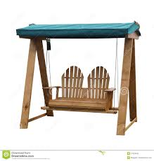 Download Wooden Garden Swing Seat Stock Image Of Canvas