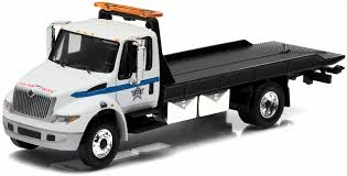 International DuraStar 4400 Rollback Tow Truck (White)