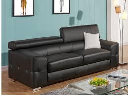 canapé cuir noir 3 places canapé 3 places cuir achat en ligne