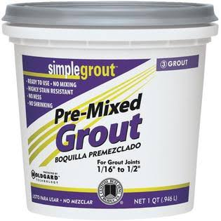 Custom Building Products SimpleGrout Pre-Mix Grout - Natural Gray, 1qt