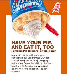 Pumpkin Pie Blizzard by Dairy Queen Home Facebook