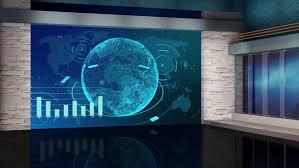 Stock Video Of News Broadcast Tv Studio Green Screen
