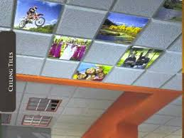 color custom company logo printed acoustic ceiling tiles