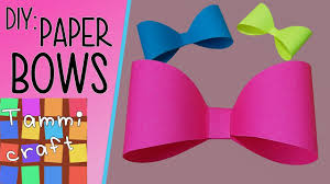 How To Make A Cute Paper Bow For Kids