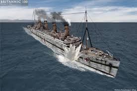 Brittanic Sinking by Britannic Mine Explosion By Lusitania25 On Deviantart