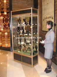 portable glass display cabinet sale lighted glass display