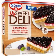 my sweet deli cheesecake blaubeer käse kuchen 6 portionen