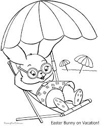 Free Easter Bunny Coloring Picture