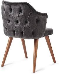 somesit design massivholzstuhl armlehnen stuhl vintage sesselstuhl mit raute muster retro esszimmerstuhl küchenstuhl mit