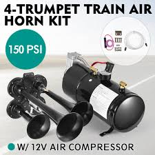 Air Horn 4 Trumpet 12 Volt Compressor 16ft Hose 150 DB Train 150 PSI ... For Sale Black Truck Train Quad 4 Trumpet Air Horn Kit 150 Psi 12v Maximus Iv Kits Hornblasters On Twitter We Get Asked A Lot What Direction Do You Kleinn Pro Blaster Features Dual 12v Car 12 Volt Compressor 16ft Hose Db Hornblasters Outlaw 232 Chrome Horn Ram 1500 From Train Horns Delivered Youtube Jeep Wrangler Onboard And Horns Ford F250 F350 Super Duty Sdkit734