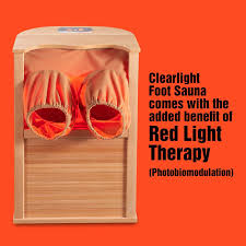 Infrared Lamp Therapy Benefits by Clearlight Infrared Foot Sauna Comes With The Added Benefit Of Red