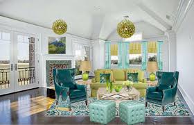 Decor Blue Green And Yellow Living Room Foyersmall Entryway With Wood