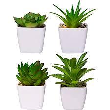 yhmall 4 stück kunstpflanzen außenbereich künstliche