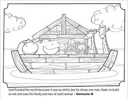 Teaching Your Kids About The Story Of Noahs Ark Heres A Free Coloring Page