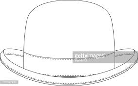 Full Size Of Coloring Pagesdazzling Hat Outline Template Classic Bowler Vector Id165597436 S 170667a Large