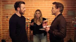 Chris Evans Robert Downey Jr Elizabeth Olsen