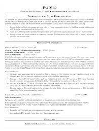 Corporate Sales Resume Rep Sample Pharmaceutical