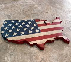 USA Wall Hanging 14 16 Rustic United States