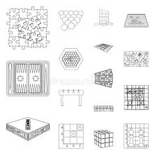 Download Board Game Outline Icons In Set Collection For Design And Entertainment Vector Symbol