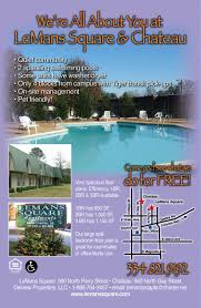 One Bedroom Apartments In Auburn Al by Lemans Square Apartments Apartment In Auburn Al